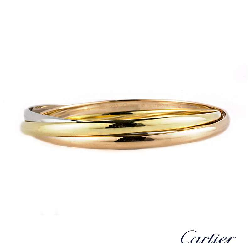 4ffbfb265dc25 Cartier 18k Three Colour Gold Trinity Bracelet B6013301